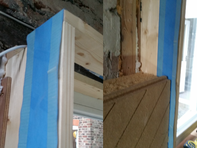 airtightness tape to internal windows
