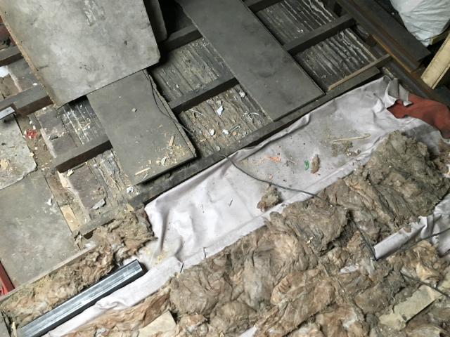 fire sheet reused insulation