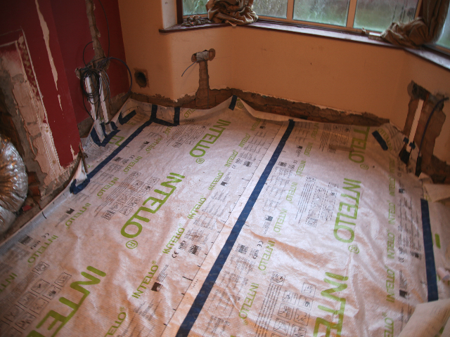 intello membrane over toechnopor flooring