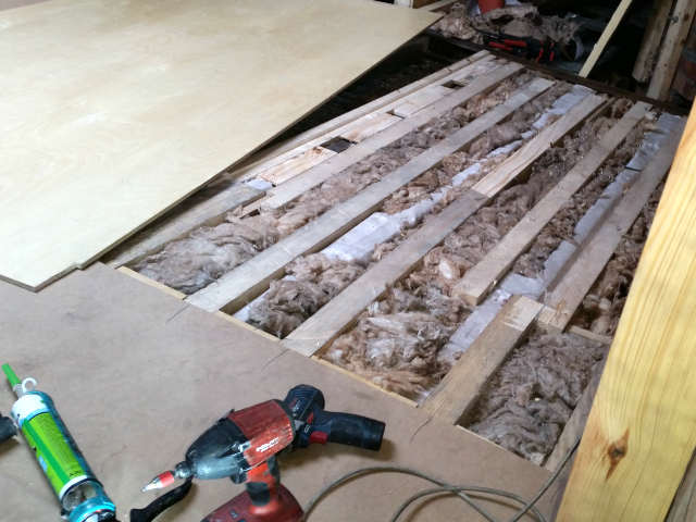 spiced joists insulated